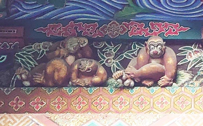 Oppsite of Three Wise Monkeys at Chichibu Shrine