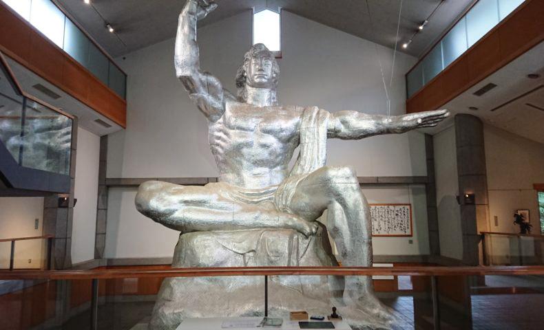The model of Peace Statue in Inokashira Park