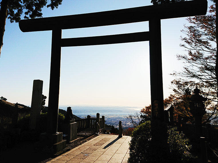 The scenery at the Sagami area in Kanagawa from Oyama-Afuri Shrine