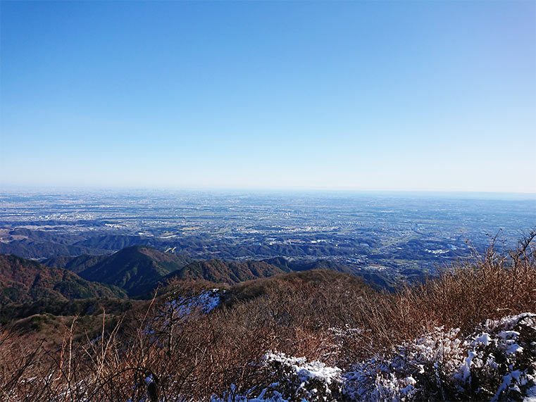 The view from the top of Mt. Oyama