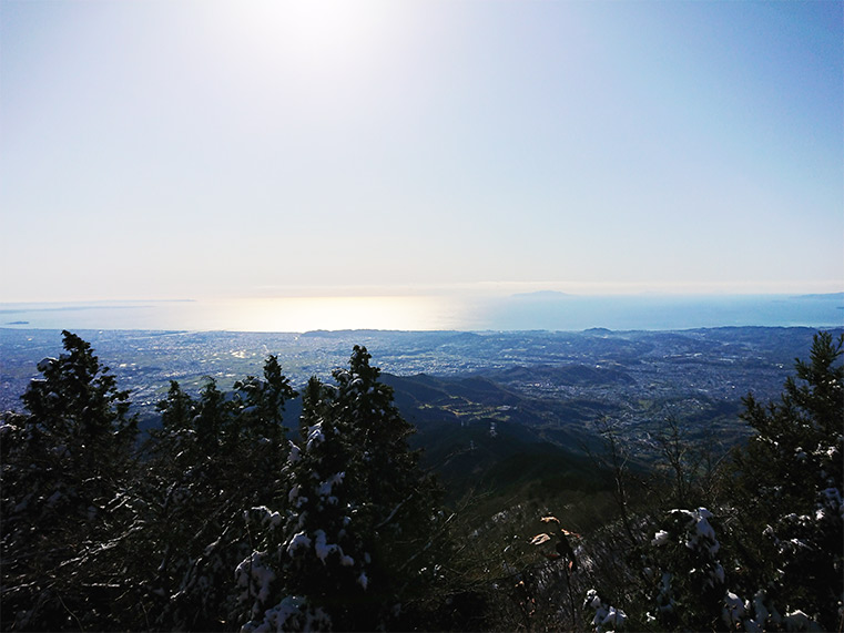 The view of the Sagami area from the top of Mt. Oyama