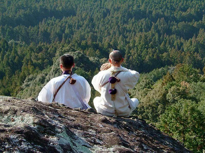 image of mountain worship by Yamabushi