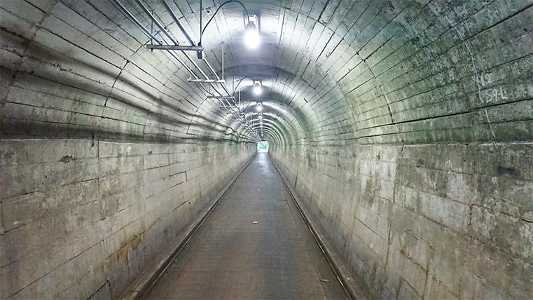 Mitake Tunnel in Western Tokyo